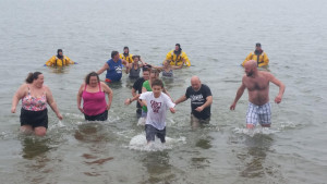 Polar Bear plunge in Clear Lake.