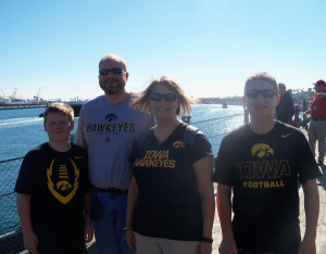 The Schuett family aboard the USS Iowa.