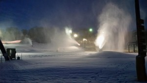 Snow-making machines at Seven Oaks