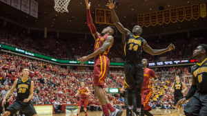 Iowa State improved to 8-0 with an 83-82 win. Photo courtesy/cyclones.com