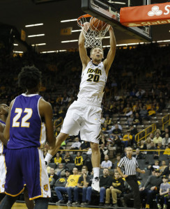 Jarrod Uthoff  (photo courtesy of Brian Ray/hawkeyesports.com)