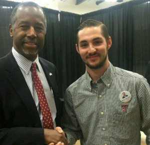 Ben Carson and Braden Joplin from Carson's Twitter account.