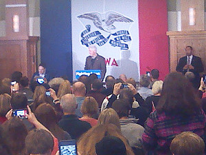 Bill Clinton in Sioux City.