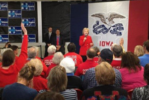 HIllary Clinton from Hillary for Iowa Twitter account.
