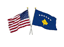 US-Kosovo-flags