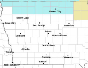 The blue area is under a wind chill advisory.