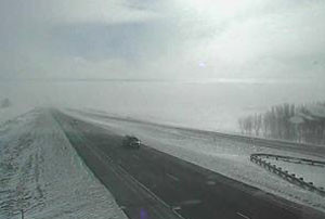 DOT travel camera view on southbound Interstate 35.