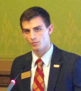 ISU student body president Daniel Breitbarth.