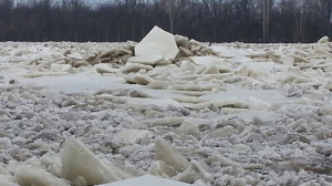 Ice jams could become a problem with warmer temperatures.