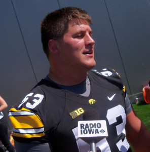 James Ferentz at 2012 Hawkeye media day.