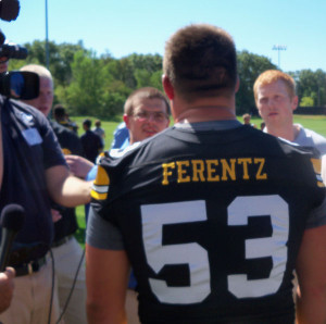 James Ferentz talks to reporters in 2012.