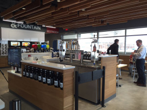 The new growler station at the Kum & Go in Johnston.