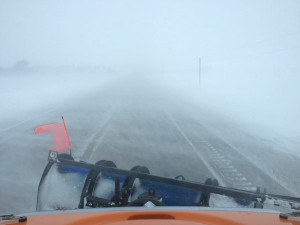 DOT snowplow camera on Highway 9 in Northwest Iowa.