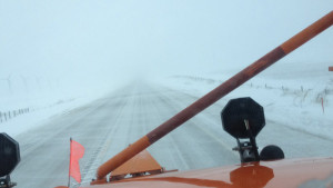 DOT snowplow camera on Highway 3 in Northwest Iowa.