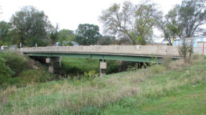 A structurally deficient bridge. The DOT's Scott Neubauer says bridges like this one have a deck or driving surface that causes the deficiency.