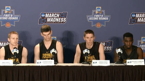 Mike Gesell, Adam Woodbury, Jared Uthoff and Anthony Clemmons. (L-R)