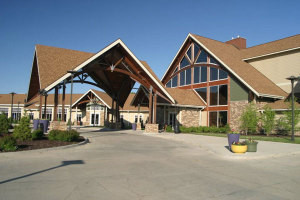 The lodge at Honey Creek Resort.