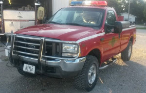 Lorimor Fire Department vehicle that was stolen.