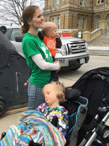 Racheal Selmeski with daughter, Maggie in her stroller.
