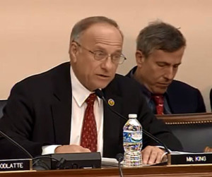 Congressman Steve King during the task force hearing.