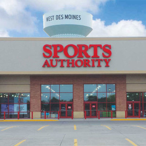 Sports Authority store in West Des Moines.