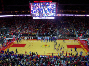 The NCAA Tournament games will be played at Wells Fargo Arena in Des Moines.