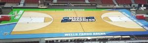 Wells Fargo Arena floor