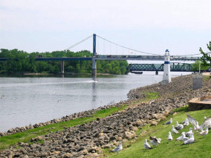 The Mississippi River in Clinton.