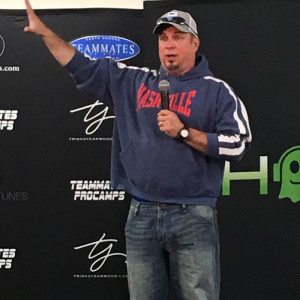 Garth Brooks talks with the media before Friday's 2 concerts,