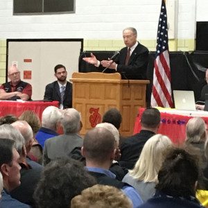 Senator Chuck Grassley speaks in Fort Dodge.