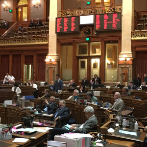 Iowa House members debate the medical marijuana bill.