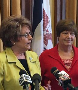 House Speaker Linda Upmeyer with Rep. Linda Miller (L-R).