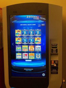 A prototype of the new Iowa Lottery vending machine.
