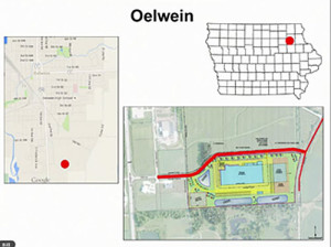 DOT map of Oelwein project.