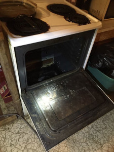 This oven was modified to be a hiding place for a Guthrie County woman.