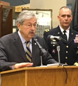 Gov. Terry Branstad and Iowa National Guard Adjutant General Timothy Orr