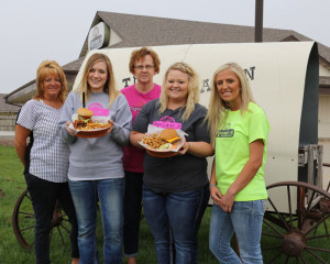 The Chuckwagon staff: Salli Nosbish; Kimberly Reha, owner; Marnell Jensen; Jessica Eblen and Chelsea Buckner (L-R).