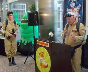 Iowa Lottery VP Mary Neubauer and CEO Terry Rich.