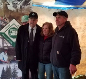 Governor Branstad with Jody and Jim Kerns at their tree farm.