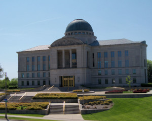 The Iowa Judicial Branch Building.