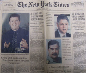 Dad Kenny McCaughey joined other world leaders on the New York Times' front page