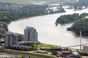 The Missouri River at Omaha.