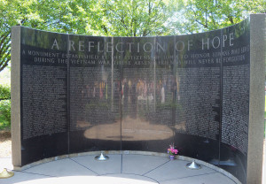 The Iowa Vietnam Memorial wall.