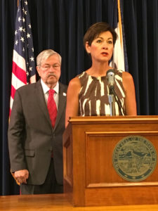 Lt. Governor Kim Reynolds and Governor Terry Branstad.