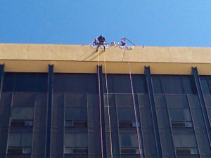 "Going ""Over the Edge"" in Sioux City."