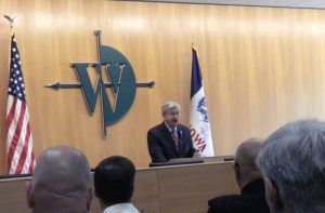 Governor Terry Branstad talks about the new data center.