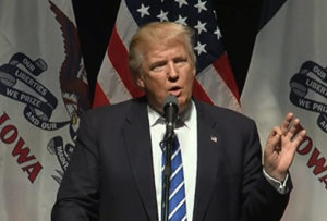 Donald Trump in Davenport.