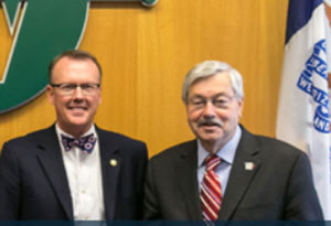 West Des Moines Mayor Steven Gaer and Governor Terry Branstad.
