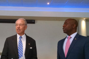 Iowa Senator Chuck Grassley and South Carolina Senator Tim Scott.