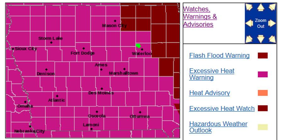 Heat-warning-map
